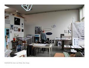 Jean van Wijk in zijn studio