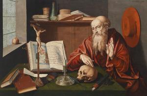 De heilige Hiëronymus in zijn studeerkamer
