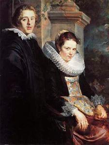 Dubbelportret van een jonge man en een jonge vrouw