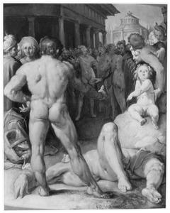 De strijd tussen Odysseus en Irus