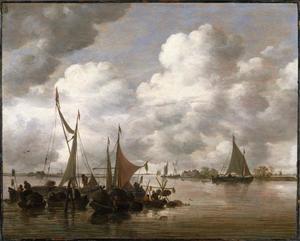 Vissersboten op een plas
