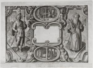 Titielpagina voor een serie illustraties van de Odyssea