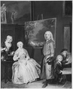 Portret van Dirck Dalens (1688-1753), Maria Schaack (?-1766) en hun kinderen