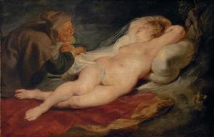 Angelica bespied door de heremiet