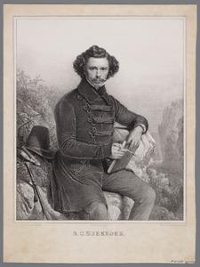 Portret van Barend Cornelis Koekkoek (1803-1862)