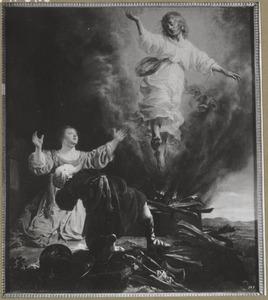De engel verlaat  Manoach en zijn vrouw (Richteren 13:20)