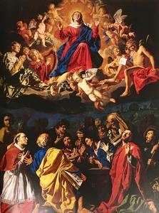 De tenhemelopneming van Maria met de heiligen Rochus, Sebastiaan en Carlo Borromeo