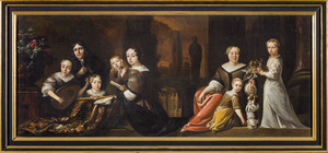 Portret van Johannes van de Rijp (1635-1704) met Judith ten Cate (1645-1711) en hun kinderen