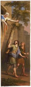 Rachab laat de  verspieders van Jozua ontsnappen uit Jericho (Jozua 2:15-23)