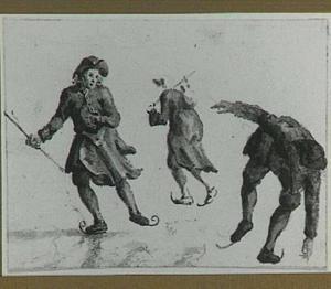 Drie schaatsers