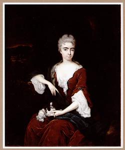 Portret van een vrouw, mogelijk Elisabeth Noel (1688-1736/7), echtgenote van Henry Bentinck