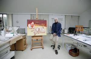 Herman Gordijn in zijn atelier