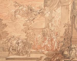 Allegorie op de geschiedenis van Odysseus