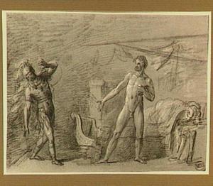 Gaius Marius intimideert de soldaat die hem komt doden