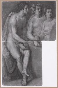 Zittende man, Bacchus en Ceres