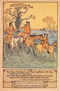 'So they hunted...' uit het verhaal The Three Jovial Huntsmen, door William Cowper