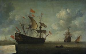 Het opbrengen van het Engelse admiraalschip de 'Royal Charles', buitgemaakt tijdens de tocht naar Chatham, juni 1667