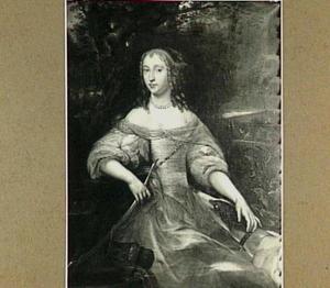 Portret van een onbekende vrouw als Diana