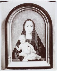 Maria met kind voor een gouden achtergrond