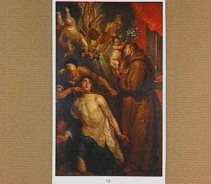 Het martelaarschap van een mannelijke heilige, de H. Antonius van Padua staat terzijde