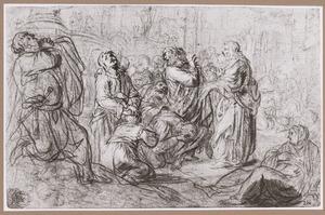 Johannes en Petrus leggen in Samaria het volk de hand op opdat zij de H. Geest zouden ontvangen (?)