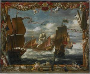 De schermutselingen tussen het eskader van Don Juan van Spanje en de Turkse vloot tussen Mallorca en Minorca, maart 1656