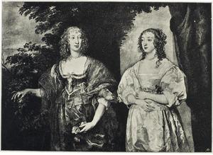 Dubbelportret van Frances Stuart, Countess of Portland (1617-1694) en Catherine Howard, Lady d'Aubigny (?-1650)