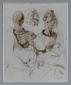 Studie voor 'Deurwachter' (model Adolf Boutar)