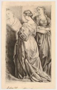 Studie van vier vrouwelijke figuren