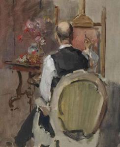 Marius Bauer (1867-1932) achter de ezel