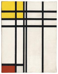 No. I: opposition de lignes, de rouge et jaune