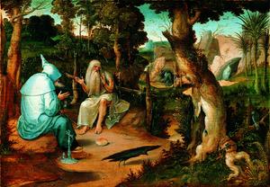 HH. Antonius en Paulus in de wildernis