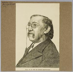 Portret van Prof. Dr. H.G. van de Sande Bakhuyzen