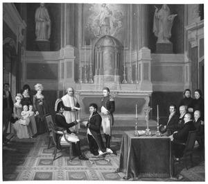 Petrus Jodocus van Oosthuyse (1763-1819) ontvangt de Spaanse ridderorde (koning Karel III) in de koninklijke kapel van Spanje aan het Westeinde te Den Haag