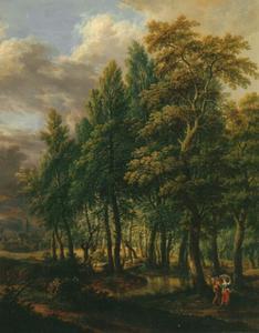 Boslandschap in de buurt van het 'Stralenberger Hof' nabij Frankfurt am Main