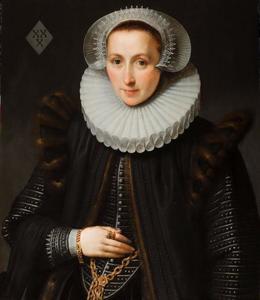 Portret van Gillina van Vlierden (1582-?)