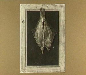 Trompe l'oeil met gedroogde vis