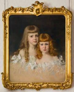 Portret van Ella (1881-1969) en Louise (1884-?) van Eeghen