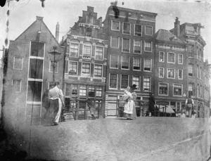 Gezicht op de Egelantiersgracht te Amsterdam