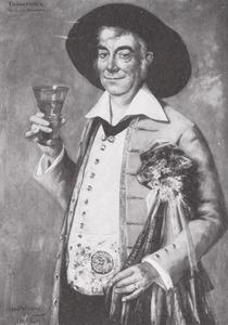 Portret van Johannes Wilhelmus Hunsche (1880-1934)