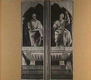 De H. Stefanus (links), de H. Jacobus de Meerdere (rechts)