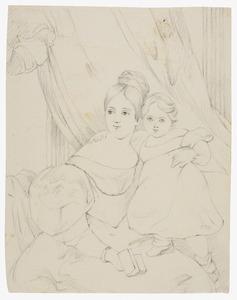Dubbelportret van een vrouw en kind uit de familie Kemper