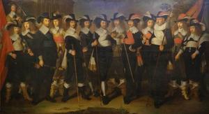 Schuttersstuk met kolonel Harmanus Herberts en zijn officieren