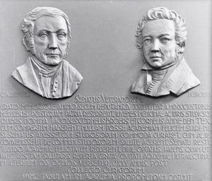 Dubbelportret van Jacob Cornelis Broers (1795-1847) en Cornelis Anne denTex (1795-1854)