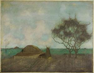 Landschap met kleihoop