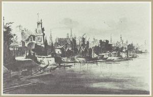 Havenstad aan een rivier
