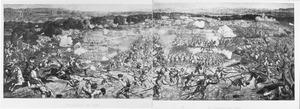 De slag bij de waterbronnen van Tunis aan het begin van de verovering van de stad door het leger van Karel V