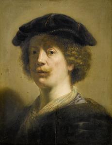Zelfportret in fantasiekleding