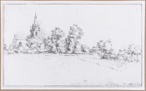 Gezicht op het dorp Strépy met de St. Martinuskerk