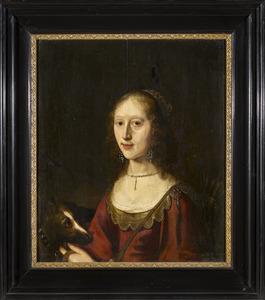 Portret van een vrouw, mogelijk Ernestine van den Boetzelaer (1620-1684)